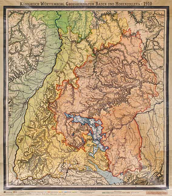 Karte Königreich Württember 1910