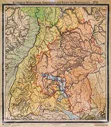 Großherzogtum Baden - Historische Landkarte von 1910